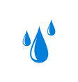 water fall logo icon concept vector image