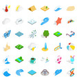 water in nature icons set isometric style vector image vector image