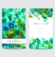 watercolor floral cards set vector image vector image
