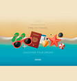 web banner on theme travel vacation vector image vector image