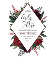 wedding floral invitation save the date car vector image vector image