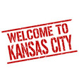 welcome to kansas city stamp vector image vector image