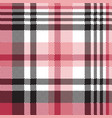 white pink color plaid seamless pattern vector image vector image