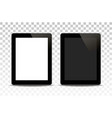 white tablet computer isolated vector image