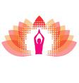 Yogi meditating on abstract lotus vector image vector image