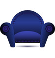 Classic Blue armchair icon vector image