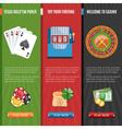 Casino Flat Banners Set vector image