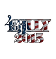 4th july cut out 2015 vector image