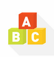 abc blocks flat icon for education vector image