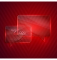 abstract red background with glass transparent vector image
