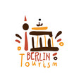 berlin tourism logo template hand drawn vector image vector image
