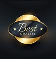 best quality luxury label badge design vector image vector image
