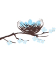birds eggs blue vector image vector image