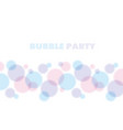 blue and rose color abstract bubble vector image