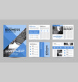 blue brochure template design layout page vector image