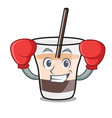boxing white russian character cartoon vector image