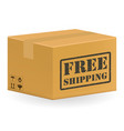 brown package product box with free shipping vector image