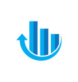 business finance chart arrow vector image vector image