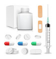 capsule pills and drugs set pharmaceutical vector image vector image