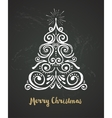 Chalkboard Vintage style Christmas Tree vector image vector image
