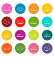 clouds icons many colors set vector image vector image