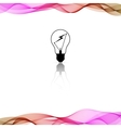 Color background with wave vector image vector image