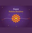 colorful greeting card design for raksha bandhan vector image vector image