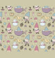 cute cartoon gnomes new year s funny pattern vector image