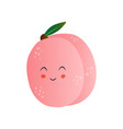 cute peach funny fruit cartoon character with vector image vector image