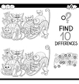 details game coloring page vector image vector image