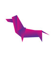 dog dachshund animal geometric origami on vector image