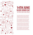 donation blood day banner vector image vector image