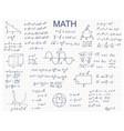 doodle math algebra concept contour linear style