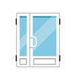 double glass paned plasstic front doors closed vector image vector image
