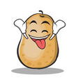 ecstatic potato character cartoon style vector image vector image