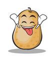 ecstatic potato character cartoon style