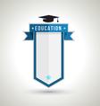 Education Badge Design vector image