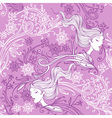feminine floral seamless pattern vector image vector image