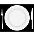 fork plate and knife vector image vector image