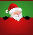 funny cartoon a peeping santa claus vector image vector image