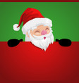funny cartoon of a peeping santa claus vector image vector image