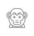 funny monkey line icon concept funny monkey vector image vector image