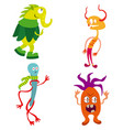 funny monsters set vector image vector image