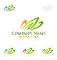 grass logo ecology logo vector image