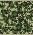 green camouflage seamless pattern military vector image