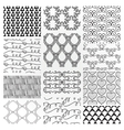 Hand Drawn Floral Seamless Patterns vector image vector image