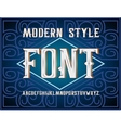 handy crafted modern label font vector image vector image