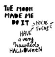 happy halloween hand drawn creative calligraphy vector image vector image