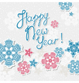 happy new year template with snowflakes vector image vector image