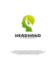 head care logo head intelligence logo designs vector image vector image